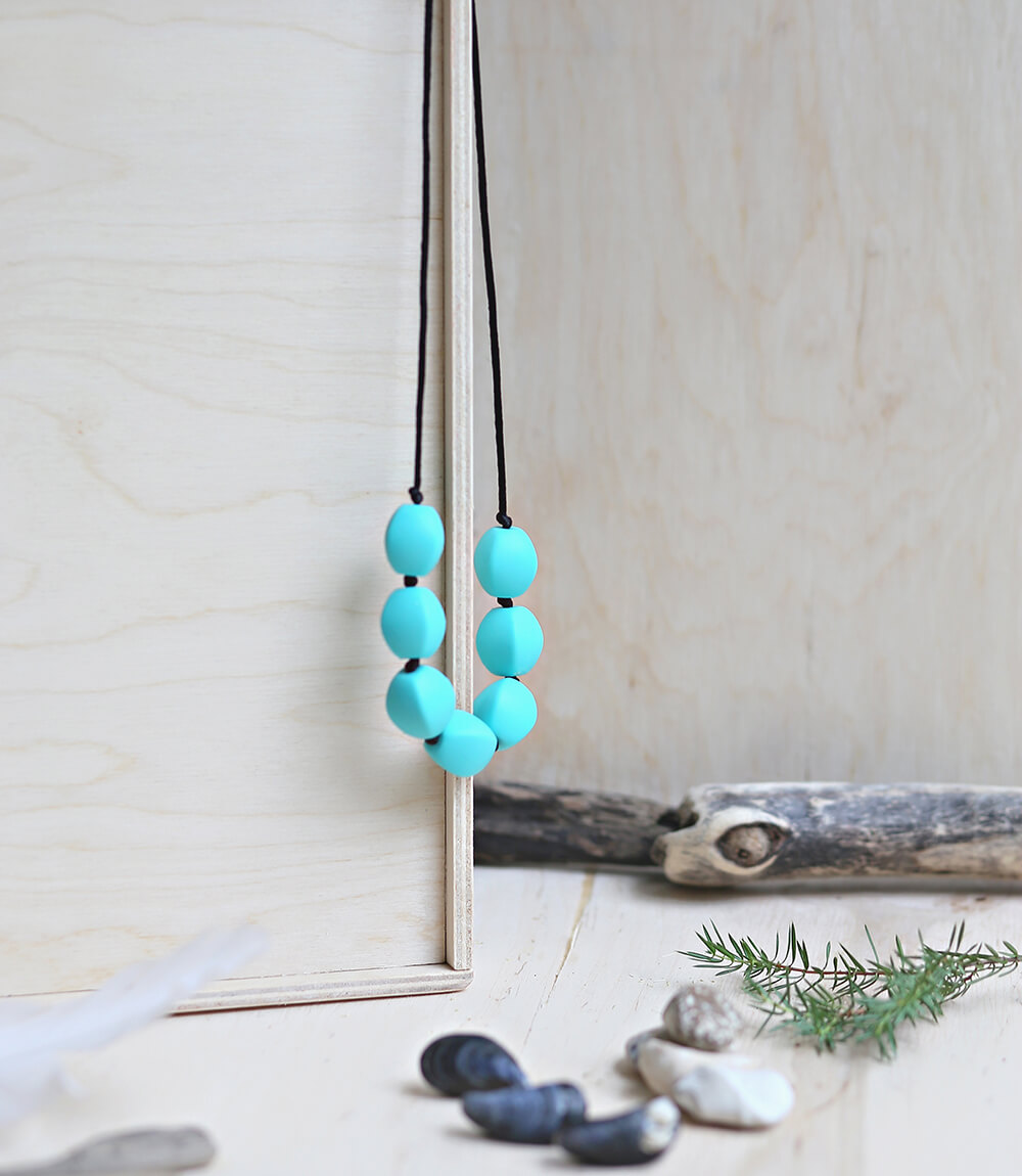 Necklace Olive Turquoise