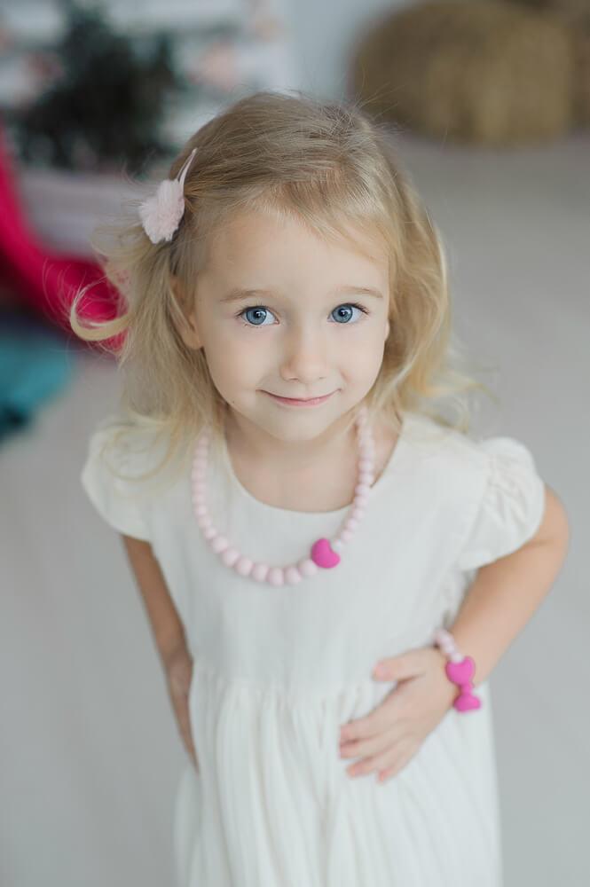 Papuošalų rinkinys mergaitei praktiška geriausia dovana vaikams 3 – 8 metų amžiui