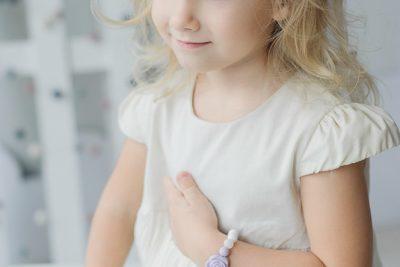 Pastelinė silikoninė apyrankė mergaitei
