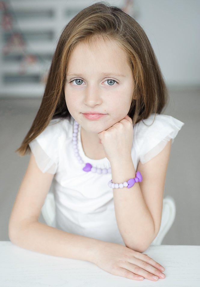 Silikoniniai papuošalai mergaitei vaikams vėrinys apyrankė saugūs kramtomi sensoriniai