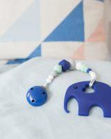 mėlynas silikoninis kramtukas drambliukas geriausia dovana kūdikiui