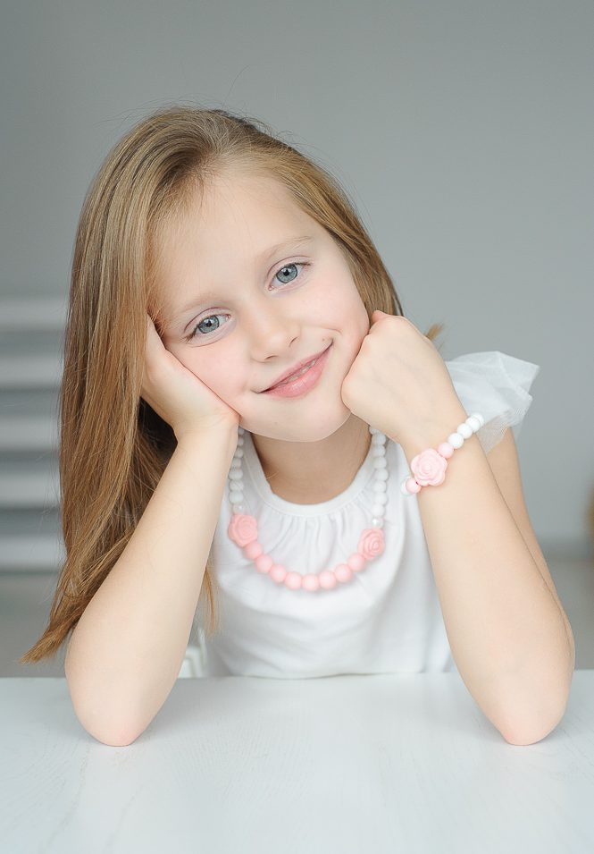 pasteliniai silikoniniai sensoriniai papuošalai mergaitei vaikui