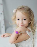 stilinga sensorinė silikoninė apyrankė mergaitei saugūs papuošalai vaikams