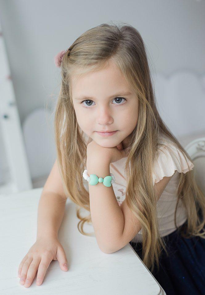 stilingi silikoniniai sensoriniai papuošalai vaikams kūdikiams mergaitėms